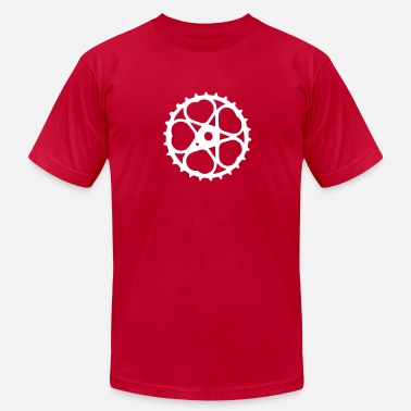 Schwinn schwinn bicycle heart chainring - Men's  Jersey T-Shirt