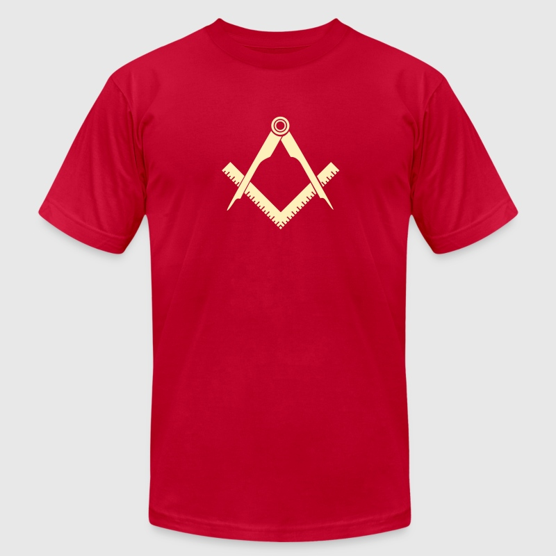 Masonic symbol, squaring the circle, freemason - Men's Fine Jersey T-Shirt