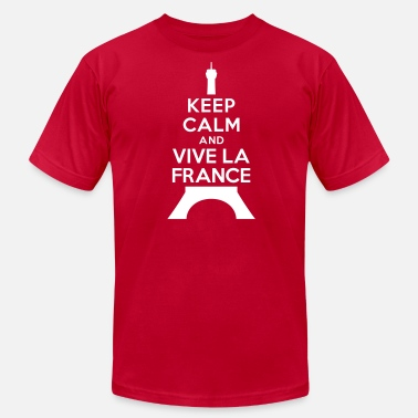 Vive La France Keep calm vive la France - Men's  Jersey T-Shirt