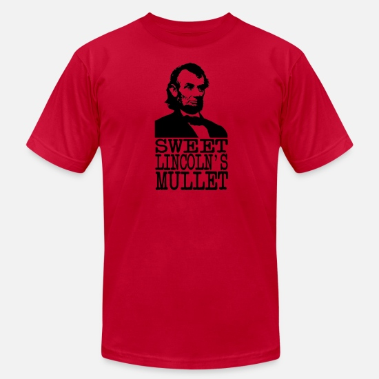 Mullet T-Shirts - Sweet Lincoln's Mullet - Men's Jersey T-Shirt red