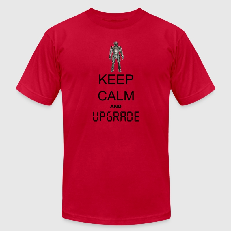 Keep calm and UPGRADE - Men's Fine Jersey T-Shirt