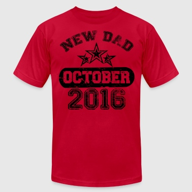 Dad To Be October 2016 - Men's Fine Jersey T-Shirt