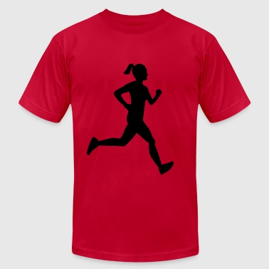Girl Runner - Men's Fine Jersey T-Shirt
