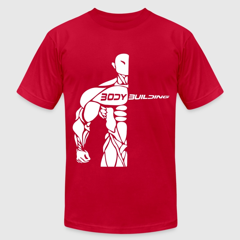 bodybuilding logo ( try 1 color ) - Men's Fine Jersey T-Shirt