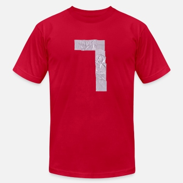 Tape Numbers duct tape number 7 a  - Men's Fine Jersey T-Shirt