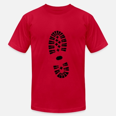 Footprints Shoe Print Shoe Print, Shoe, Boot Print - Men's Fine Jersey T-Shirt