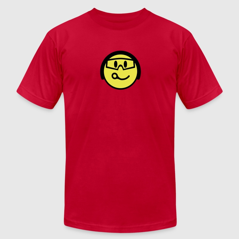 Smiling Closing Pin Face With Helmet And Goggles - Men's Fine Jersey T-Shirt
