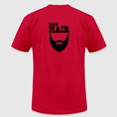 MAN HAIR beard - Men's Fine Jersey T-Shirt