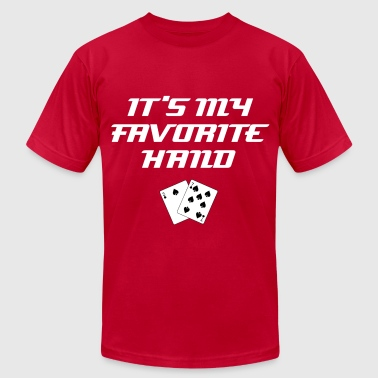 It's My Favorite Hand: Classic Sorry/Bad Beat Poker Excuses - Men's Fine Jersey T-Shirt