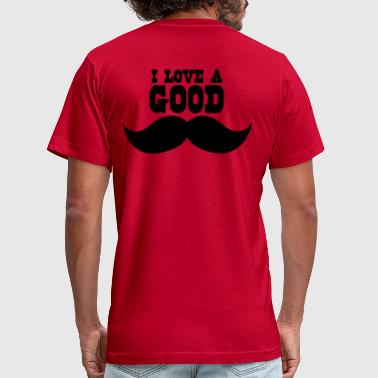 I Love Oldies I LOVE A GOOD moustache - Men's Fine Jersey T-Shirt