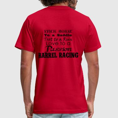Barrel Racing Barrel Racing words - Men's Fine Jersey T-Shirt