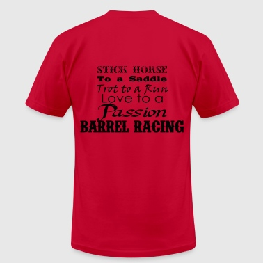 Barrel Racing words - Men's Fine Jersey T-Shirt