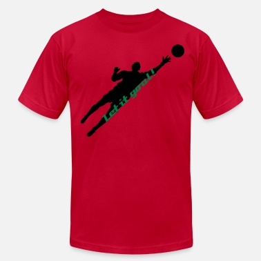 Soccer Player Silhouette 02 - Men's Jersey T-Shirt