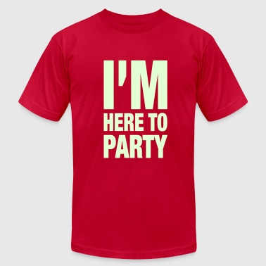 I'm Here To Party - Men's Fine Jersey T-Shirt