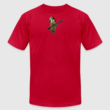 Combat Pickle - Men's T-Shirt by American Apparel