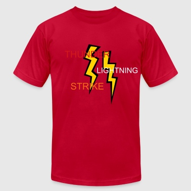 two two colored lightning bolts - Men's Fine Jersey T-Shirt