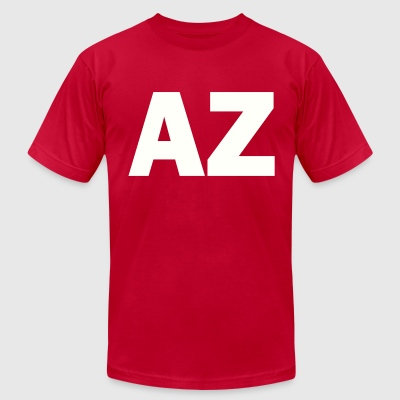 PLACE AND TIME AZ WHITE - Men's T-Shirt by American Apparel