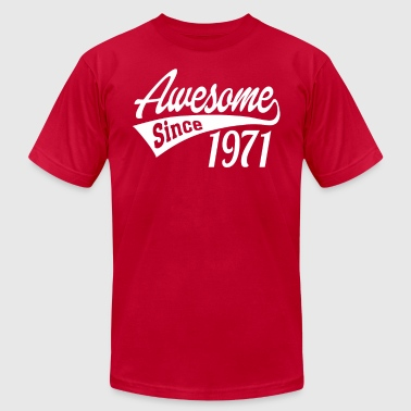 Awesome Since 1971 - Men's T-Shirt by American Apparel