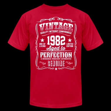 Vintage 1982 Aged to Perfection - Men's Fine Jersey T-Shirt