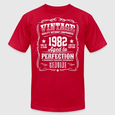Vintage 1982 Aged to Perfection - Men's T-Shirt by American Apparel