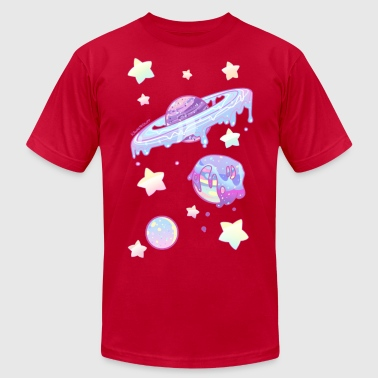 Drippy Planets - Men's Fine Jersey T-Shirt