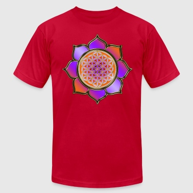 flower of life | violet orange - Men's Fine Jersey T-Shirt