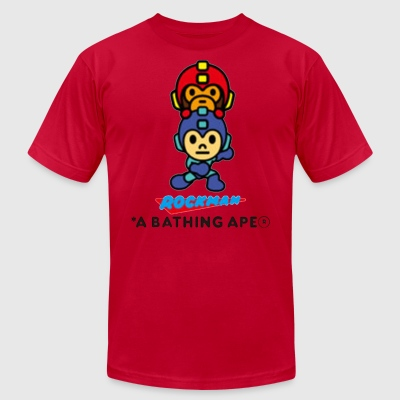 Bape x Rockman Limited Edtion - Men's T-Shirt by American Apparel