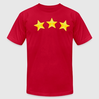 three stars - Men's Fine Jersey T-Shirt