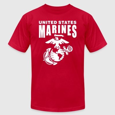US Marine - Men's T-Shirt by American Apparel