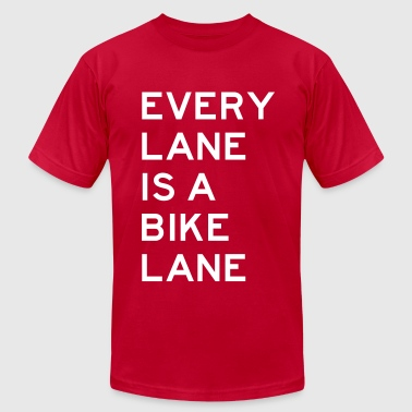 Every Lane is a Bike Lane - Men's Fine Jersey T-Shirt
