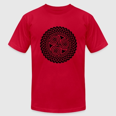 Triple Spiral in Celtic band - Men's Fine Jersey T-Shirt