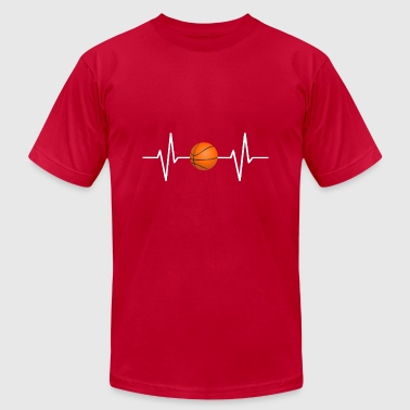 My heart beats for basketball! gift - Men's T-Shirt by American Apparel