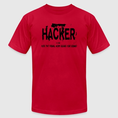 Hacker - Men's T-Shirt by American Apparel