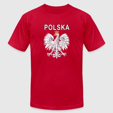Polska National Eagle Deluxe Polish - Men's T-Shirt by American Apparel