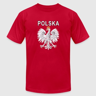 Polska National Eagle Deluxe Polish - Men's Fine Jersey T-Shirt
