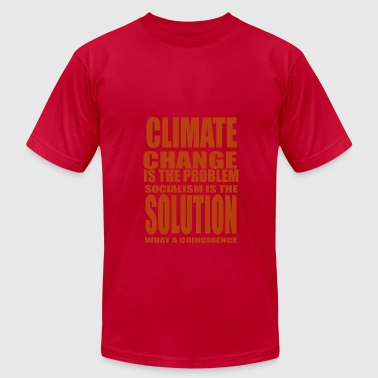 Climate Change problem - Men's Fine Jersey T-Shirt
