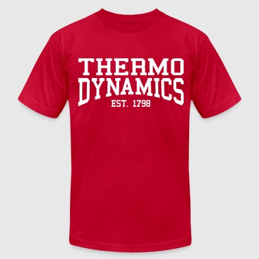 Thermodynamics - Est. 1798 (over-under) - Men's Fine Jersey T-Shirt