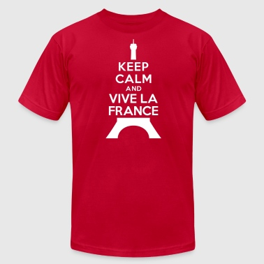 Keep calm vive la France - Men's Fine Jersey T-Shirt