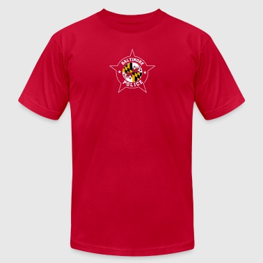 Baltimore Police T Shirt - Maryland flag - Men's Fine Jersey T-Shirt