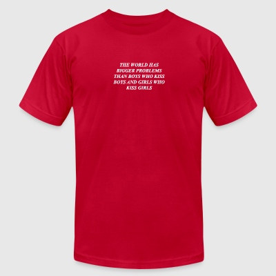 The World Has Bigger - Men's T-Shirt by American Apparel