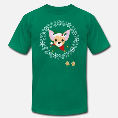 Dog-fancier Funny Chihuahua Dog Pet Christmas Hat Snow Gift - Men's Jersey T-Shirt