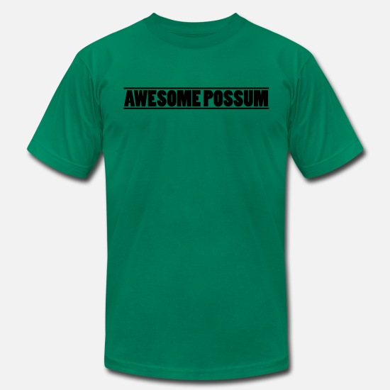 Satire T-Shirts - Awesome Possum - Men's Jersey T-Shirt kelly green