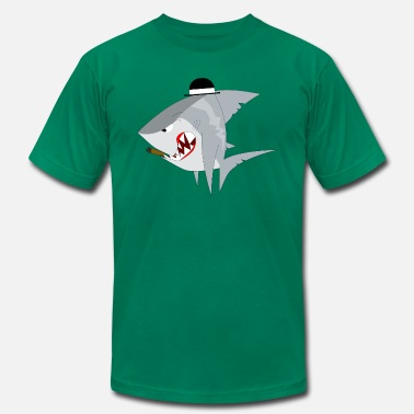 Gangster Anime Shark monster predator wildlife animal gangster - Men's  Jersey T-Shirt