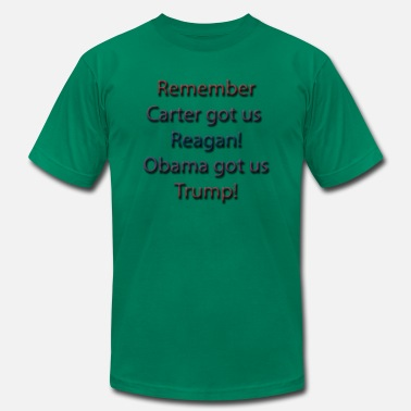 Reagan Obama carter-reagon2 - Men's  Jersey T-Shirt