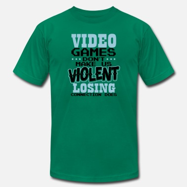 Violent Videogames dont make us Violent Losing Connection - Men's Jersey T-Shirt