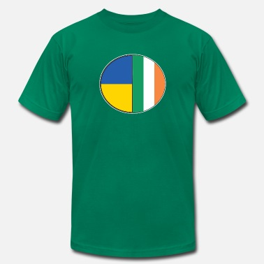 Dual Flags Ireland Ukraine Flags National Dual Heritage - Men's  Jersey T-Shirt
