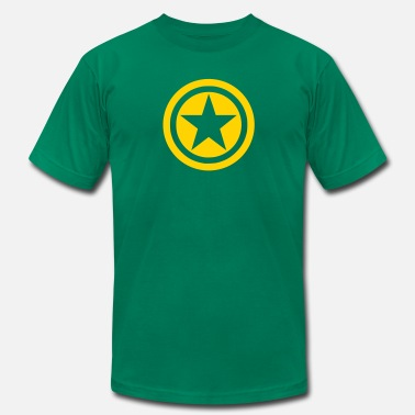 Circle Star Star in Circles - Men's Jersey T-Shirt