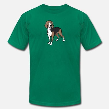 Avalanche Dog Finnish hound dog cartoon - Men's  Jersey T-Shirt