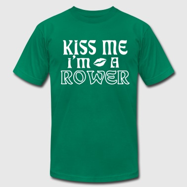 kiss me im a rower - Men's Fine Jersey T-Shirt