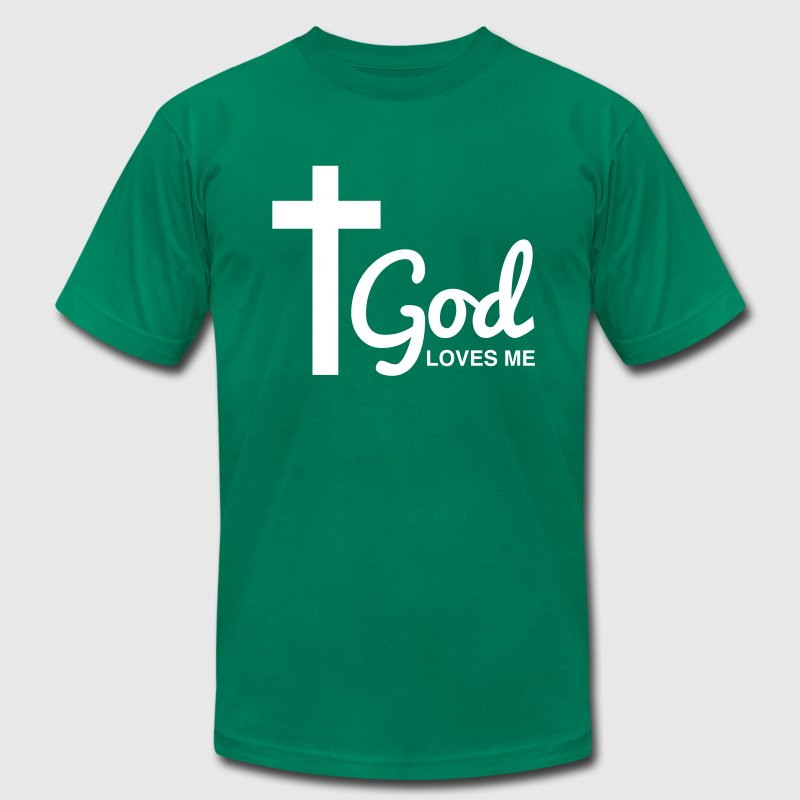 God Loves me - Men's Fine Jersey T-Shirt